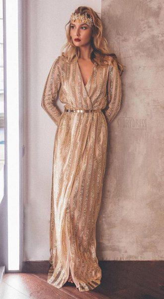 Вечернее платье Naked Rhythm Gold