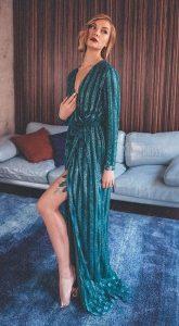 Вечернее платье Naked Rhythm Green
