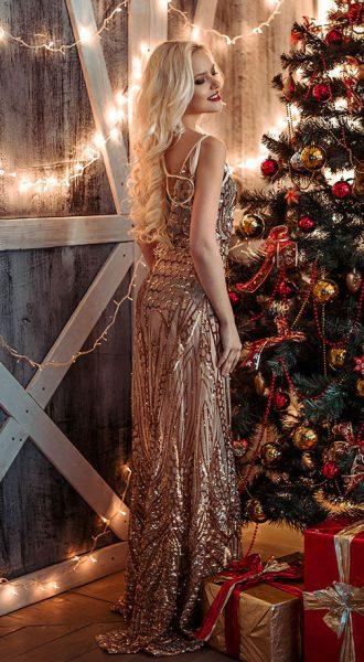 Вечернее платье Naomi Gold