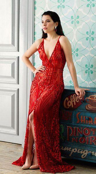 Вечернее платье Naomi Red