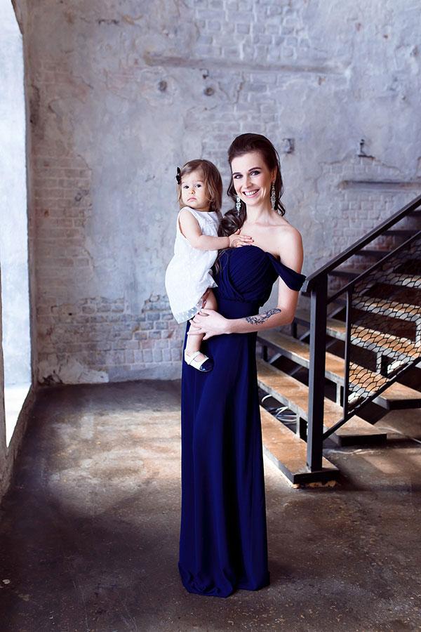 Синее вечернее платье прокат