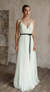 Плиссированное платье Paulina Green Tea