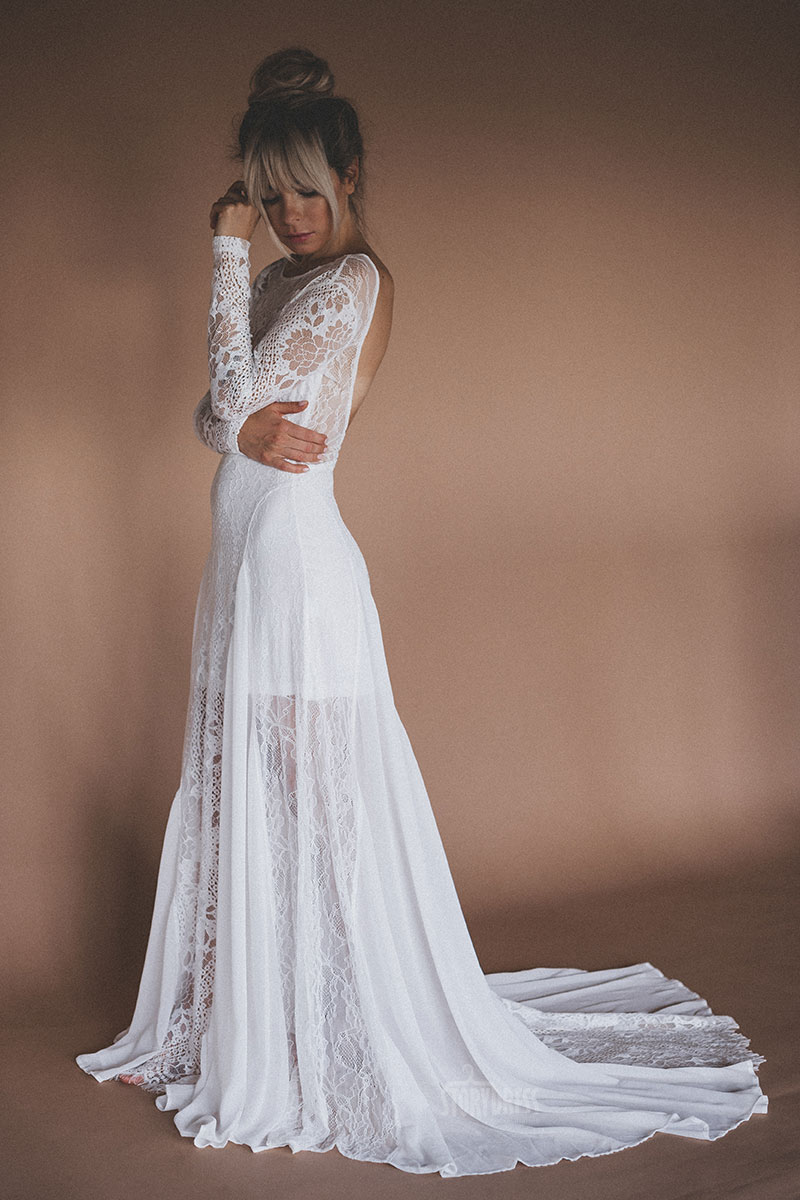 Платье из белого кружева Polly White