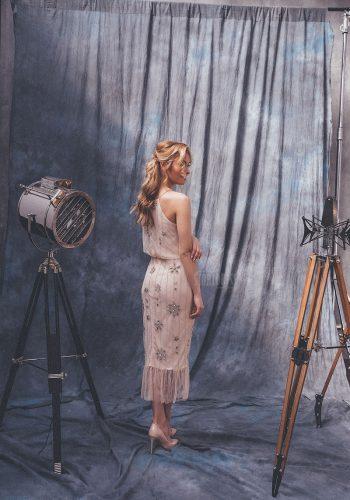 Платье нежного пудрового оттенка Sherry-Scam