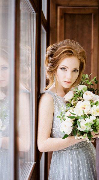 Серебряное платье для свадьбы