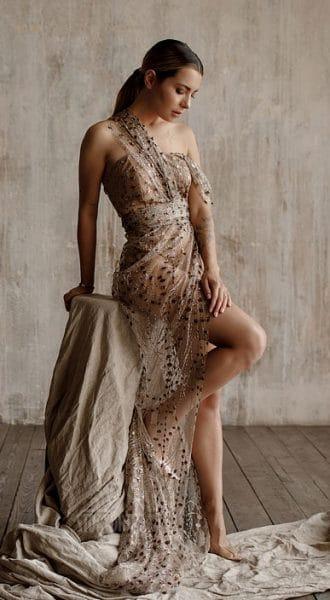 Прозрачное платье Taylor Bloops Brown