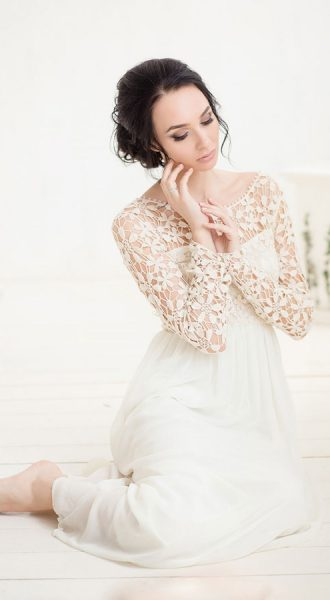 Платье с ирландским кружевом Vanilla Summer