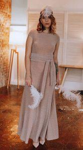 Вечернее платье с люрексом Abigail