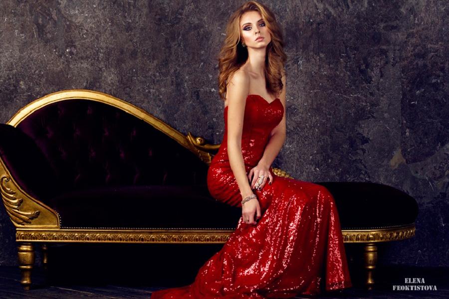 Красное вечернее платье напрокат салон