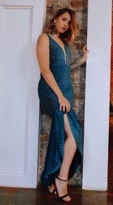 Вечернее платье-русалка Loren Blue