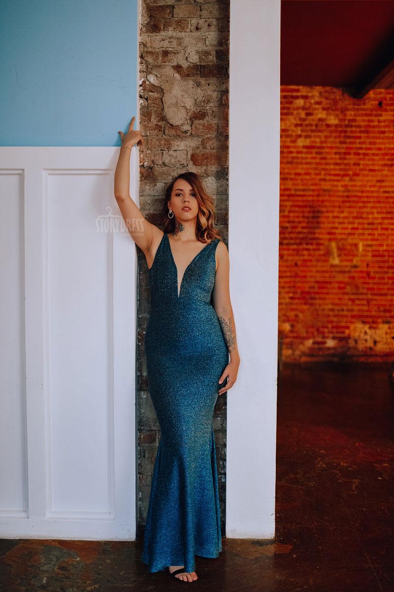 Вечернее платье русалка с чувственной линией силуэта