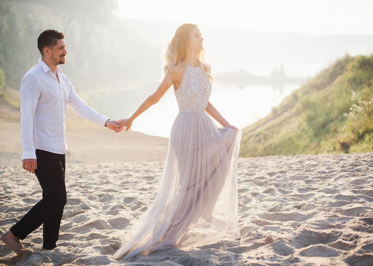 Прозрачное платье для фотосессии в романтичном стиле