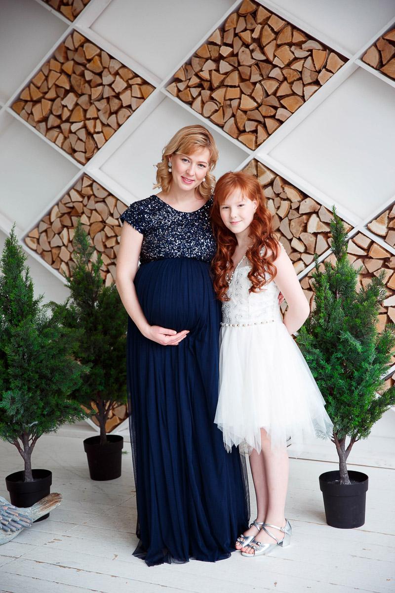 Платье для беременной синей цветовой гаммы