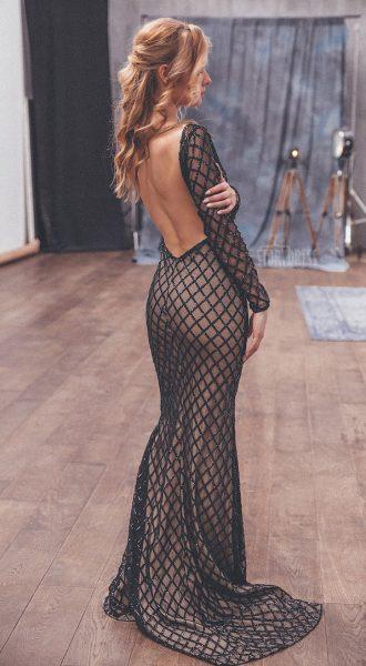 Вечернее платье с открытой спиной Zoie