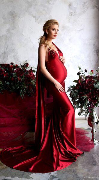 Красное платье для беременных Extremely Dangerous Red