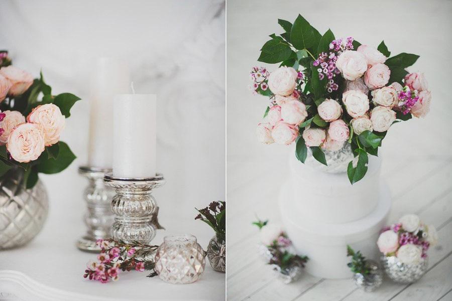 Декор из подсвечников и ваз для фотосессии