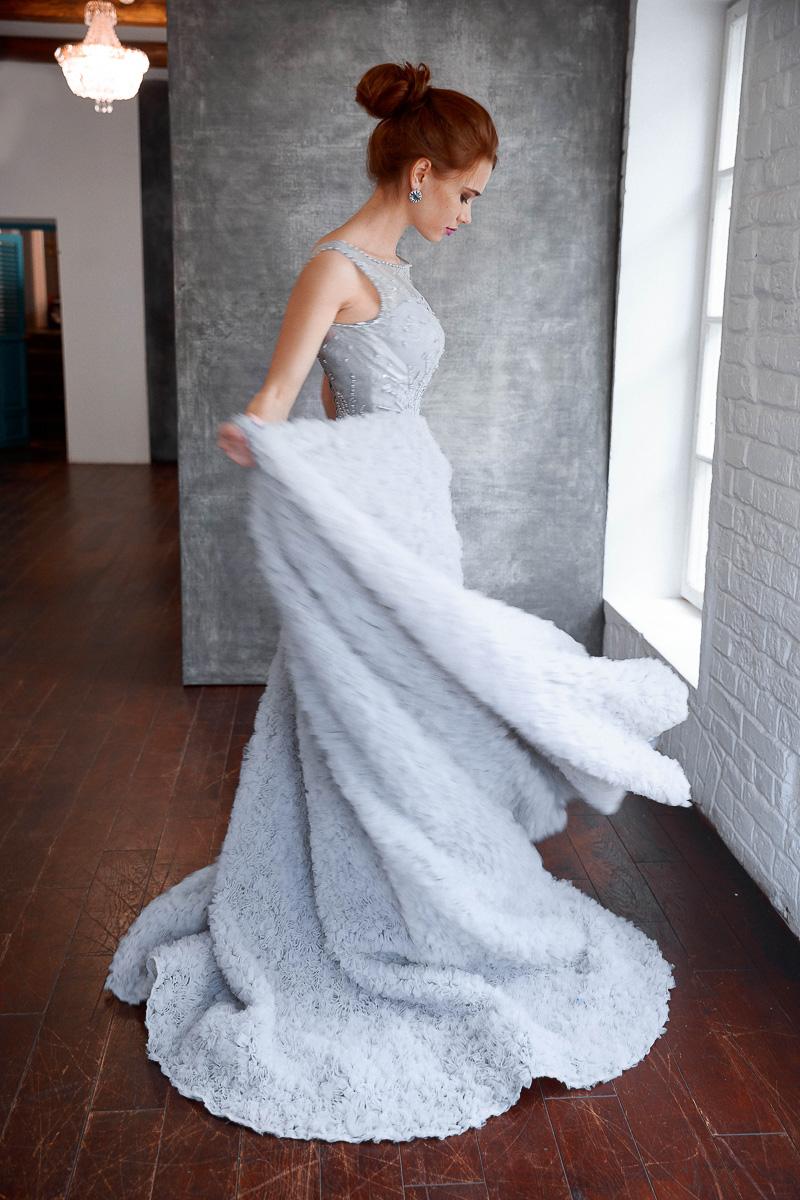 Пышное голубое платье Aurora в аренду