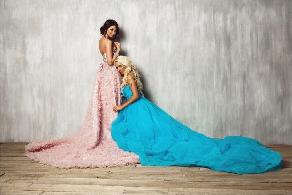 Пышные платья для фотосессии с огромным шлейфом