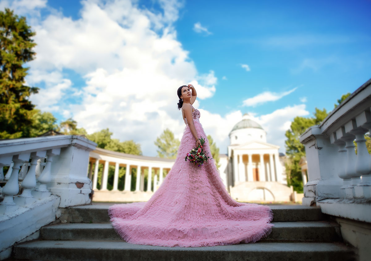 Пышное платье для фото