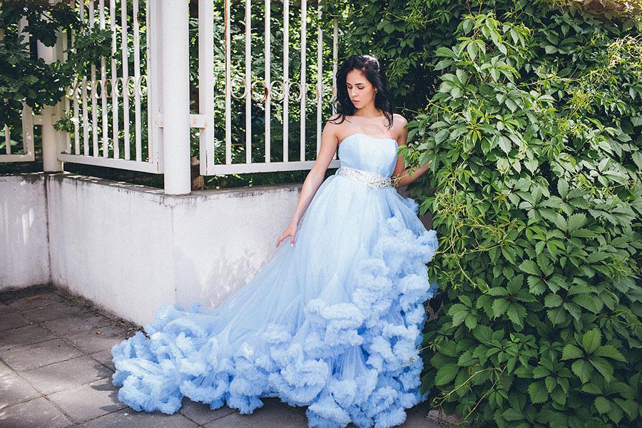 Пышное платье-облако напрокат