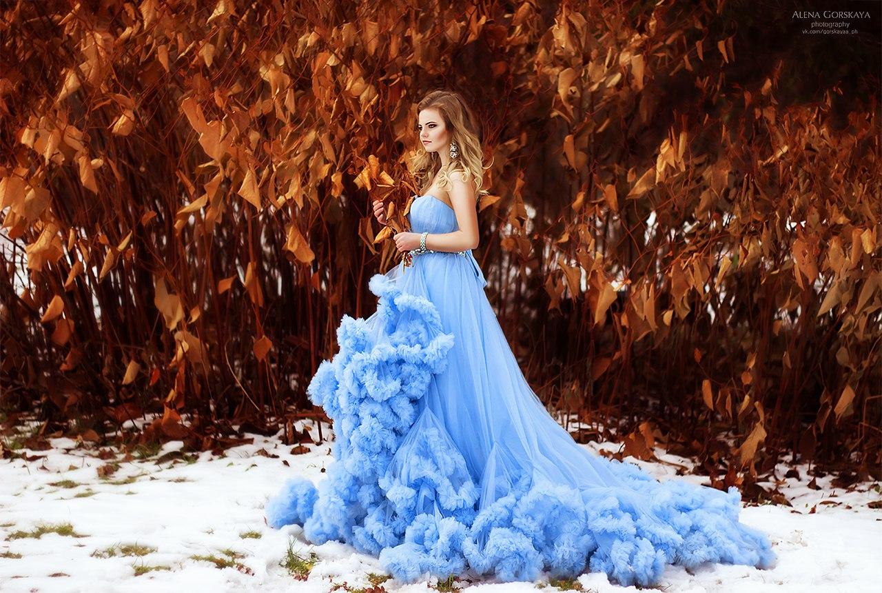 Голубое платье-облако Blue Cloud