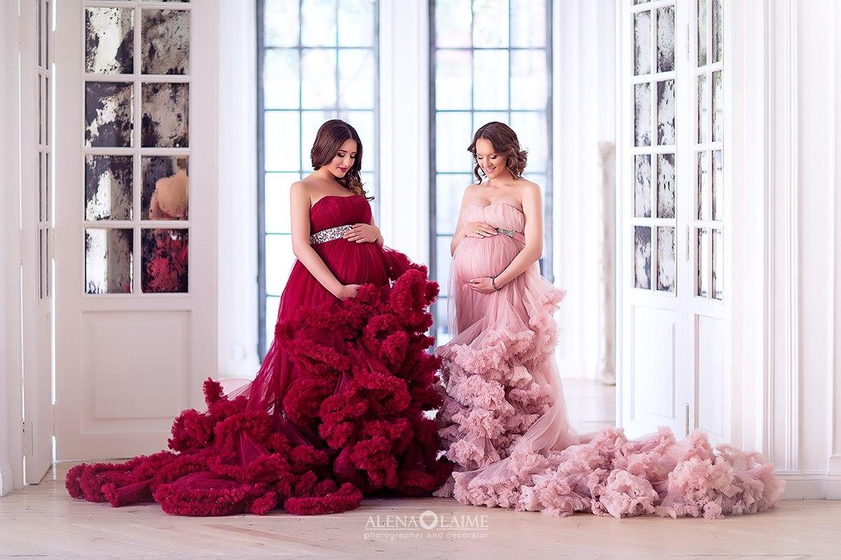 Фотосессия беременных в воздушных платьях