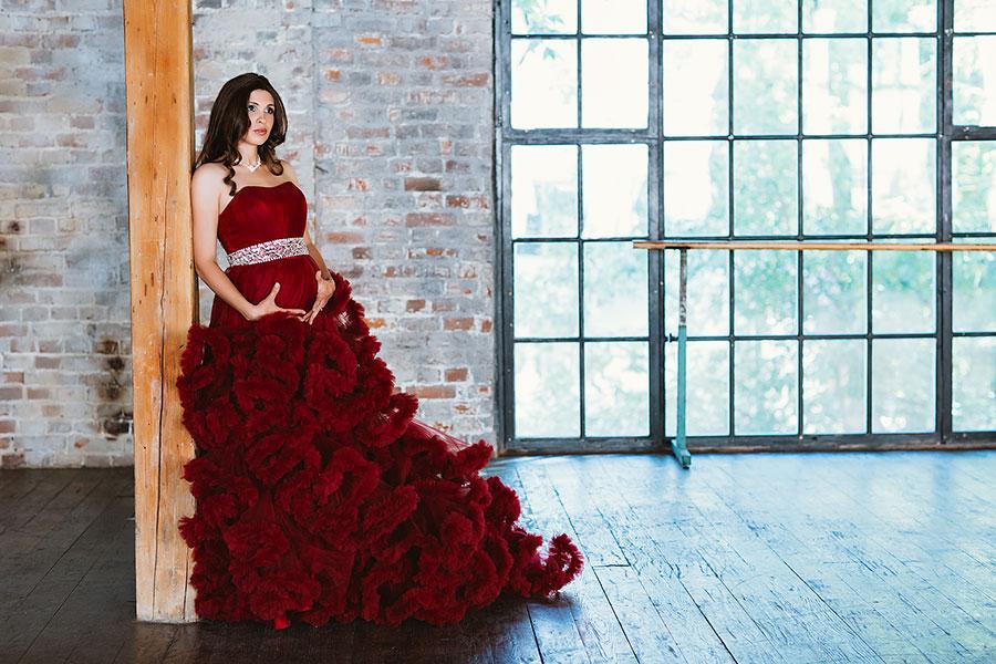 фотосессия беременной в платье