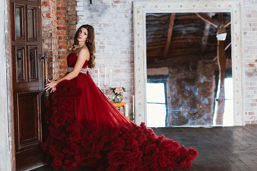 Дизайнерское платье для фотосессии