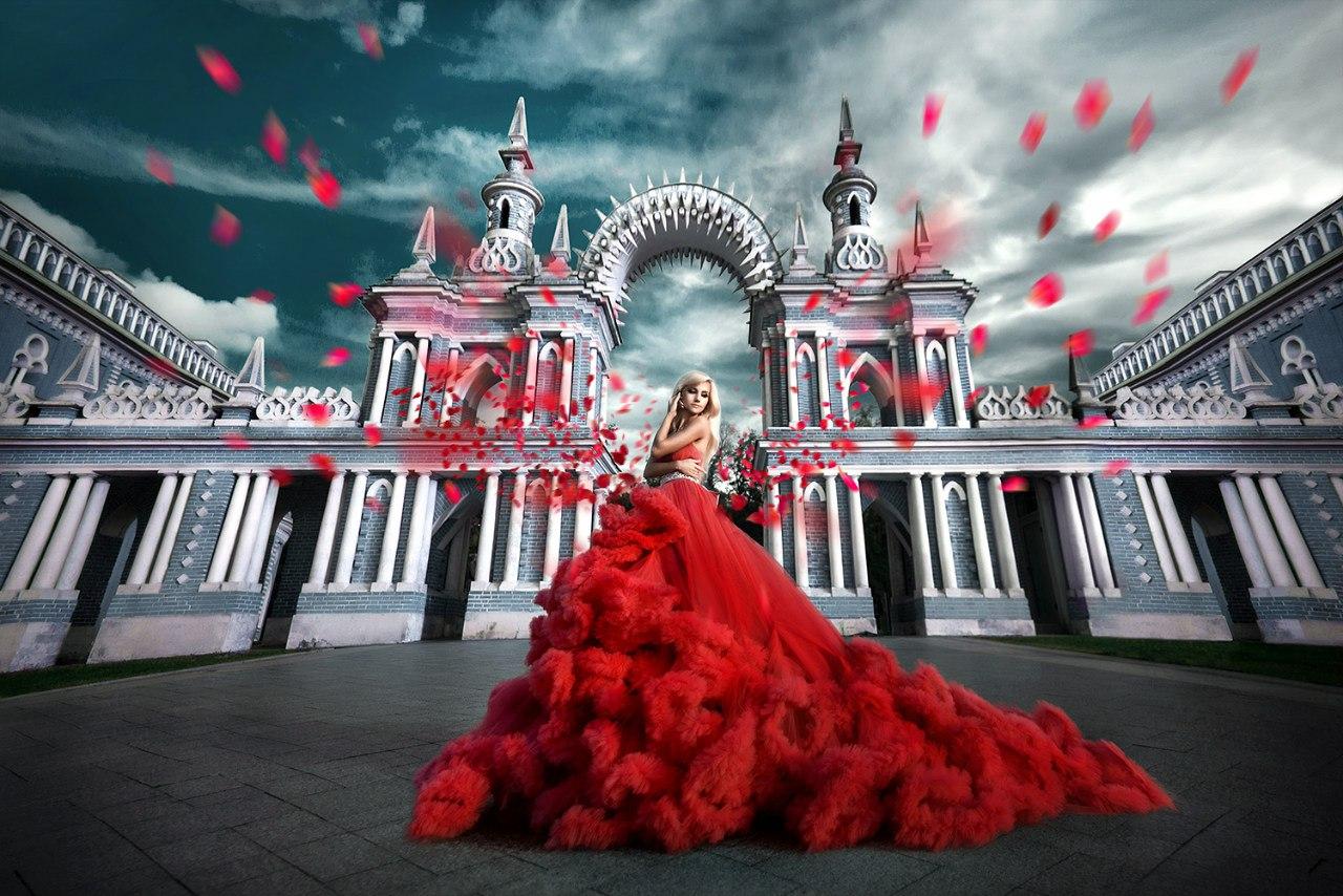 Платье-облако в аренду