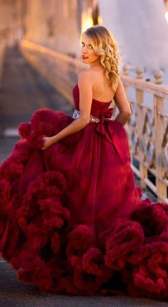 Бордовое платье-облако Bordeaux Cloud