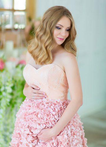 Пышное платье для беременных