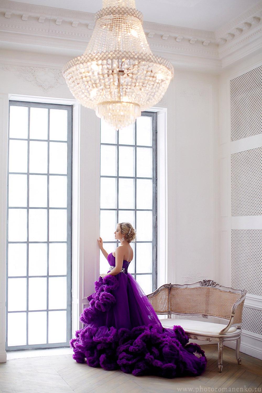 Фотоессия в платье облаке