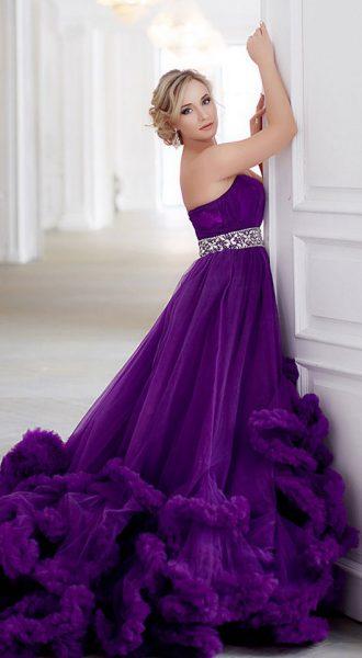 Пышное фиолетовое платье-облако PurpleCloud