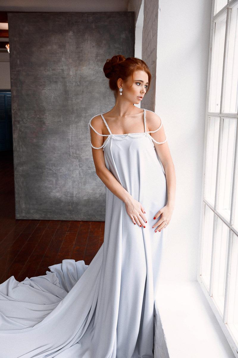 Платье с искусственным жемчугом