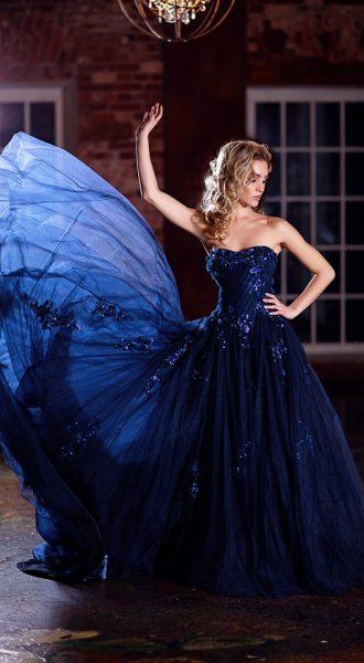 Синее платье для фотосессии