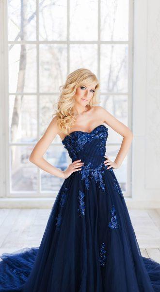 Синее платье в аренду