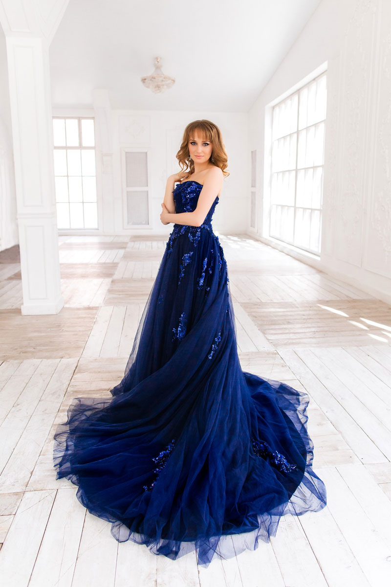 Платье штормовое небо