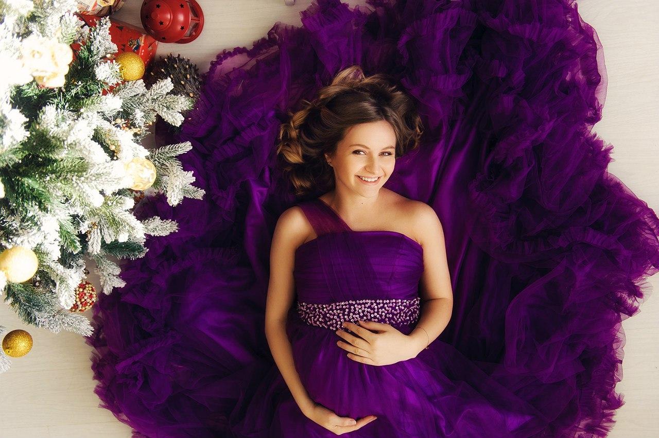 Пышное платье для фотосессии беременной