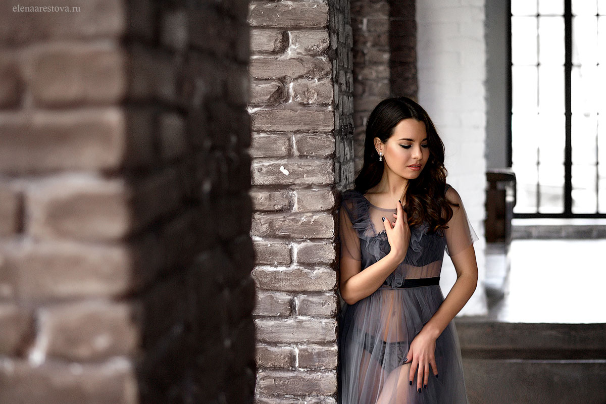 Будуарное платье из фатина