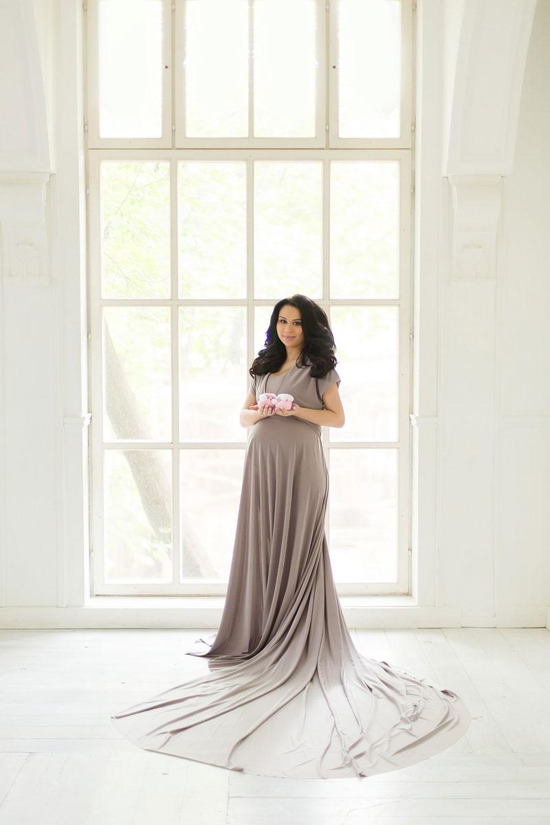 Платье серый трансформер