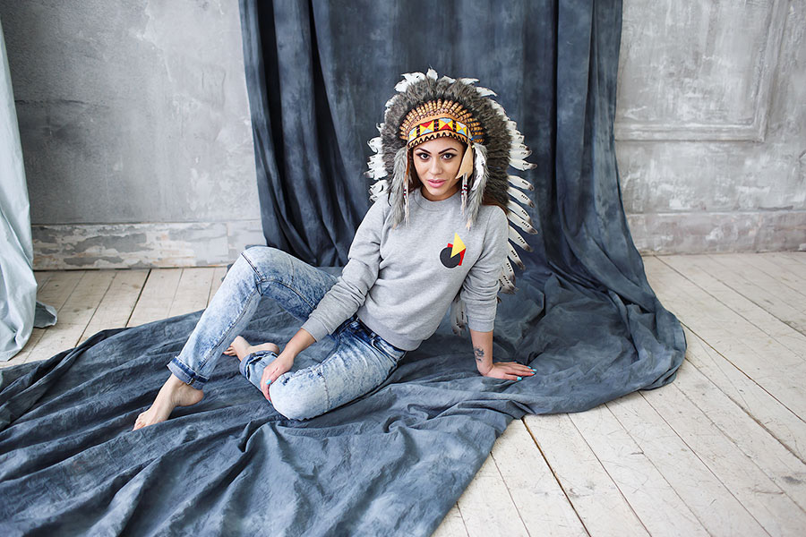 Фотосессия в образе индейца