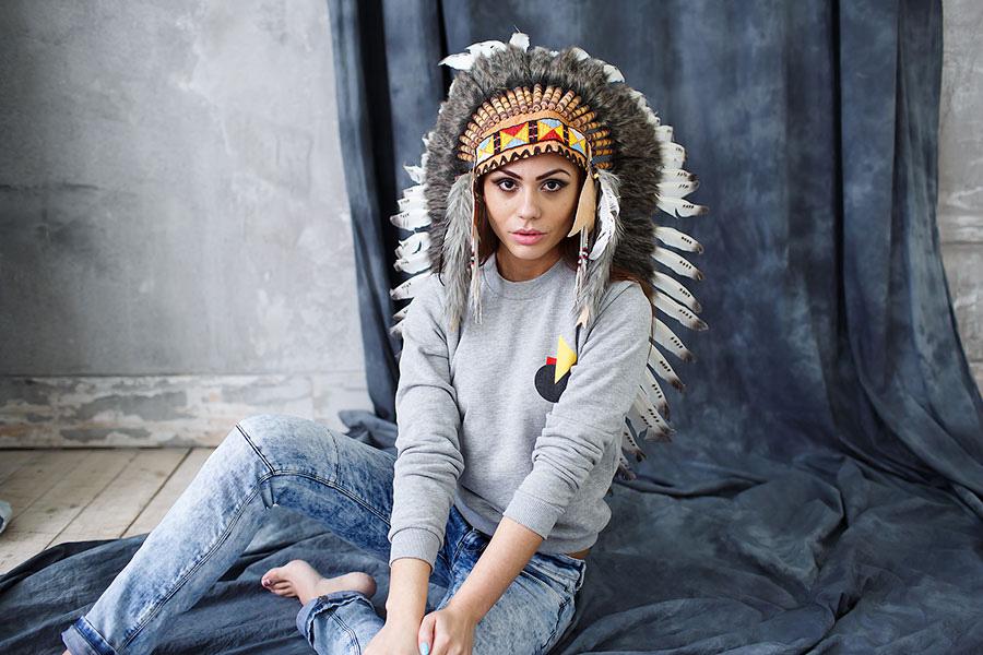 Идеи для фотосессии с шапкой индейца