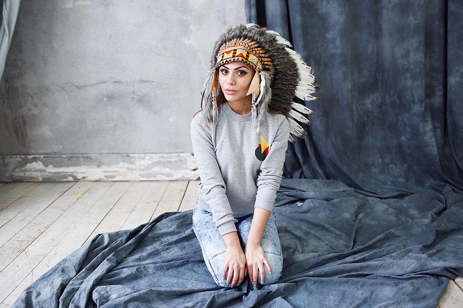 Индейская шапка с перьями напрокат