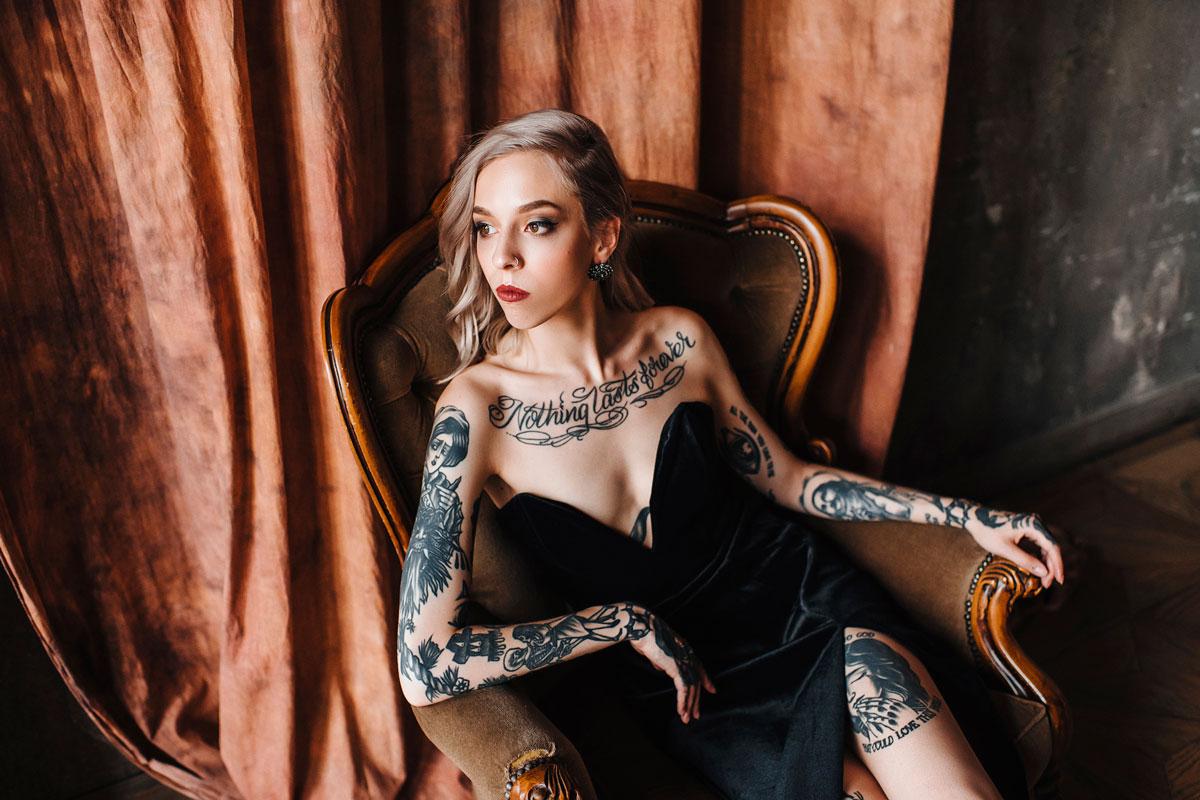Kot Tattoo Studio Photo Shoot 01 платья в аренду и напрокат москва