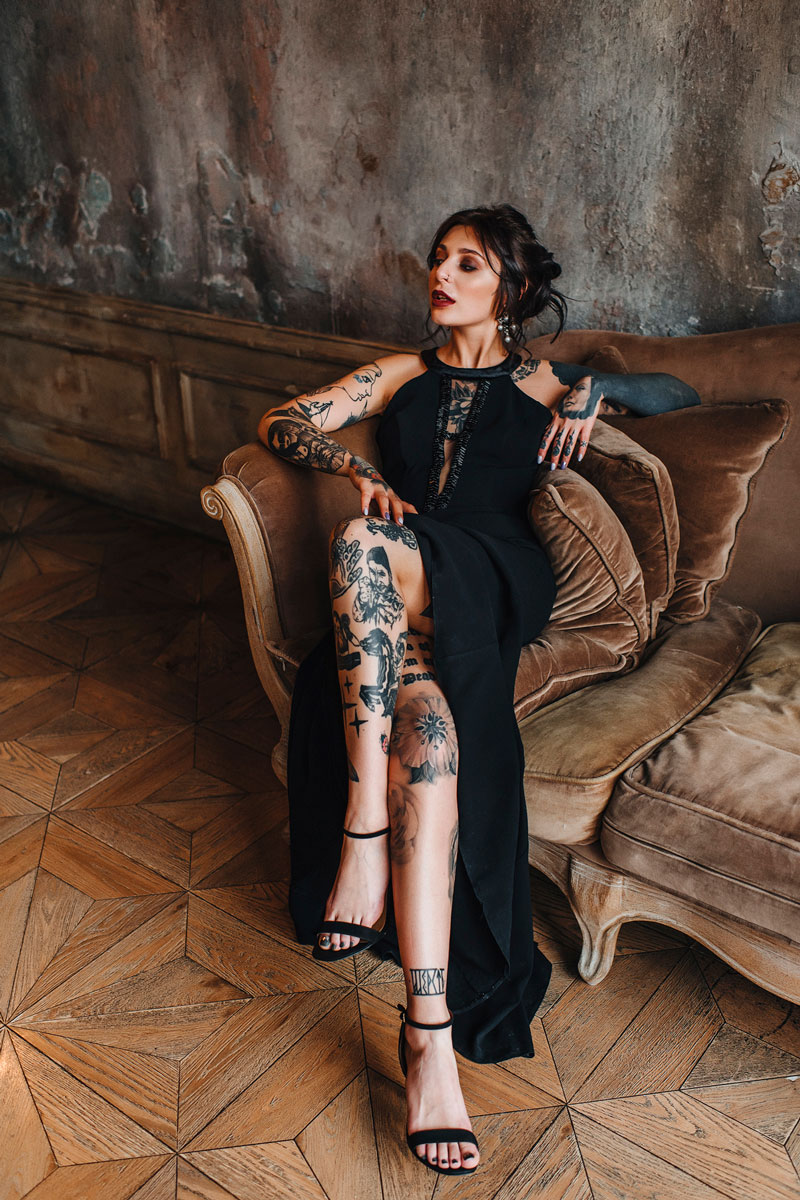 Kot Tattoo Studio Photo Shoot 02 платья в аренду и напрокат москва