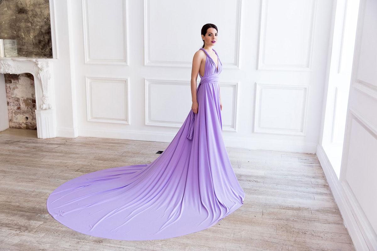 Платье-трансформер со шлейфом