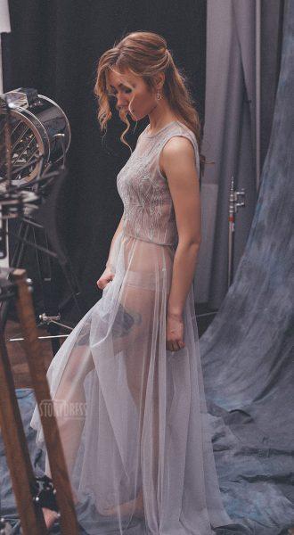 Нежно-голубое вечернее платье Tally