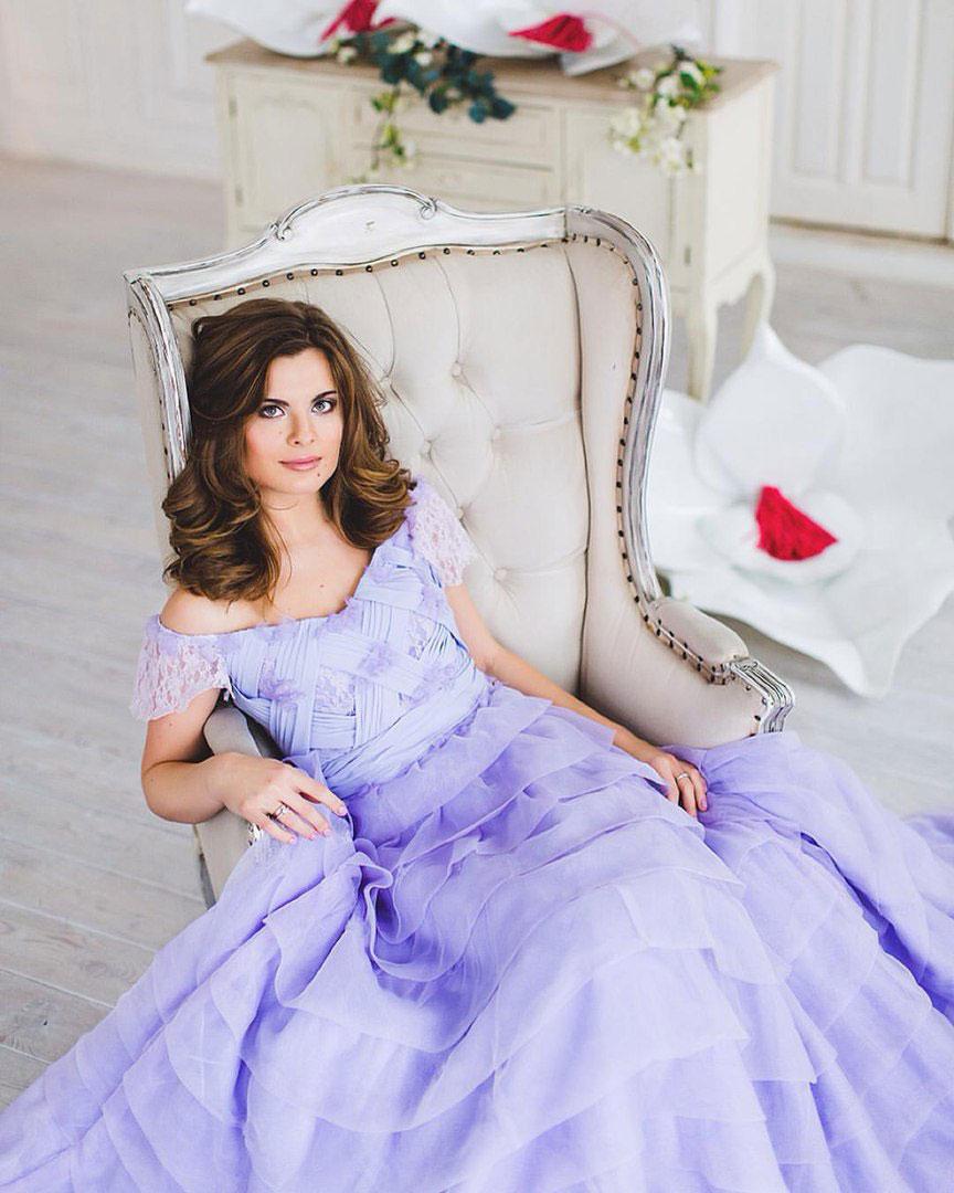 Лавандовое платье в аренду