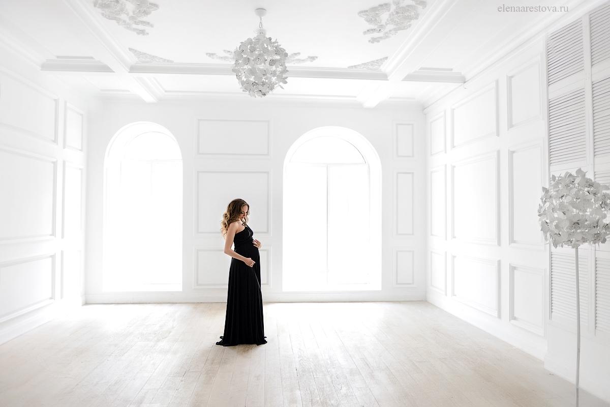 Черное платье-трансформер для беременных