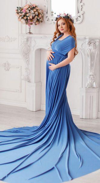 Голубое платье-трансформер Light Blue Transformer